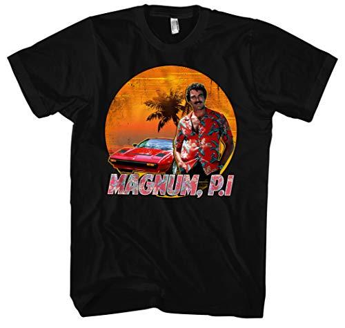 (Magnum Männer und Herren T-Shirt | Spruch Kostüm Hemd Geschenk ||| M2 (4XL, Schwarz))