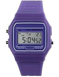 Moda Unisex Reloj Hombre Reloj Murjer Niños niñas Reloj Inteligente LED Digital con Banda de Silicona