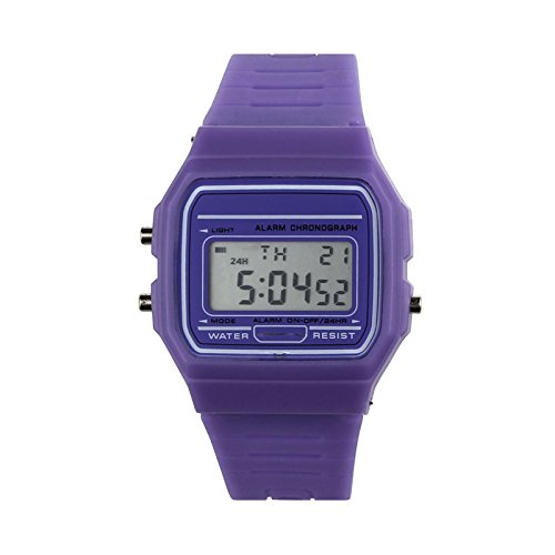 Moda Unisex Reloj Hombre Reloj Murjer Niños niñas Reloj Inteligente LED Digital con Banda de Silicona Smartwatch Deportivo Correa de Silicona Relojes de Pulsera Watch vpass
