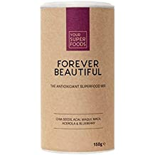 Your Superfoods Forever Beautiful Superfood - Bio Vegan Antioxidans Mix Mischung Pulver aus Acai, Maca, Matcha, Antioxidanten für schöne Haut 150g