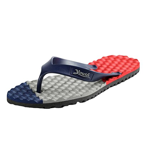 Yiiquan Pantofole Uomo Infradito Casuale Sandali Spiaggia Antiscivolo Flip Flop Blu /Grigio/Rosso