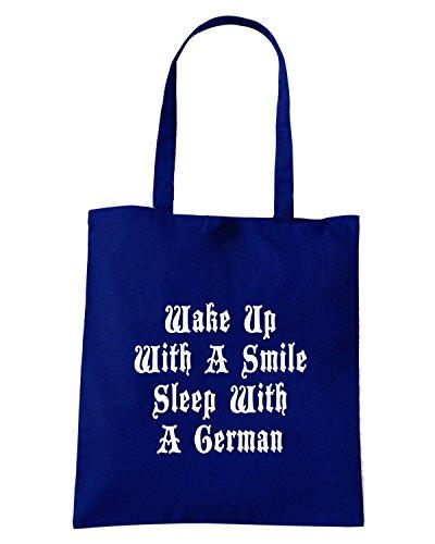 T-Shirtshock - Borsa Shopping OLDENG00371 wake up Blu Navy