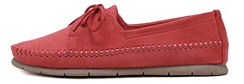 Fangsto  Boat Shoes,  Mädchen Damen Ballett Rot