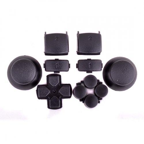 Sticks und Tasten Set/Mod Kit passend für PS3® Controller - schwarz (Mods Controller Ps3)