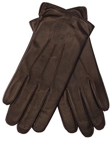 EEM klassischer Lederhandschuh BEN für Herren echtem Leder gefüttert warm, braun L