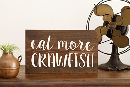 prz0vprz0v Crawfish Sign Crawfish Art Crawfish Decor Cajun Crawfish Boil Cajun Art Cajun Decor Crawfish Party Pinch Peel Eat NOLA Gift Mardi Gras LA Decorative Wood Sign 8 x 12 Inch