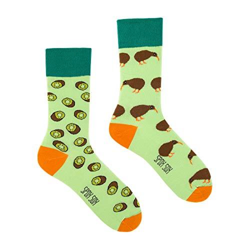 Spox Sox Casual Unisex - mehrfarbige, bunte Socken für Individualisten, Gr. 44-46, Kiwi