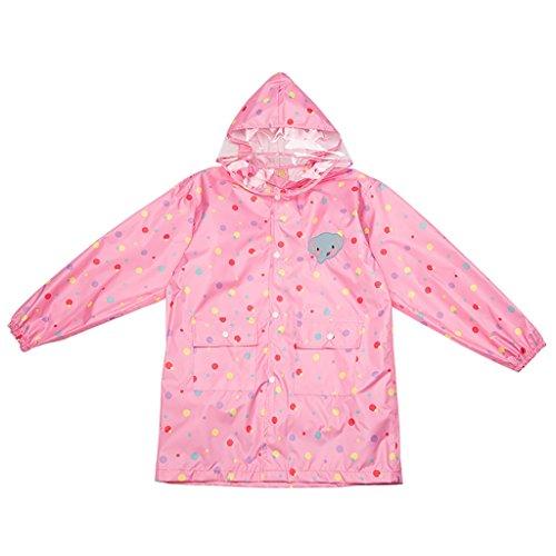 Regenmantel Kinderregenmantel Mädchen Pink Poncho Cartoon Wasserdicht Transparent Visier Tourismus Outdoor Licht und atmungsaktiv Umweltfreundlich (größe : L)