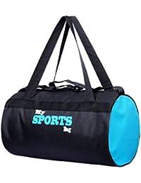 Fashion 7 Polyester Black-Sky Blue Sports Duffle