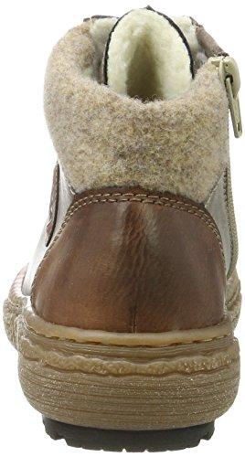 Rieker L7912, Sneaker a Collo Alto Donna Grigio (Brandy/cigar/wood)