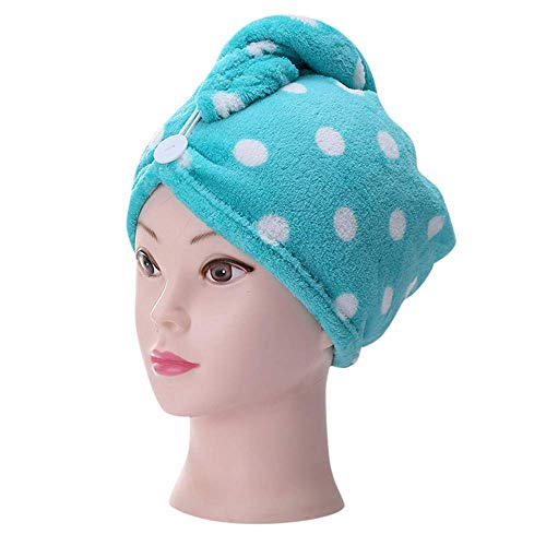 Bobopai Microfiber Bathing Dry Hair Cap Quick Drying Wrapped Towel Adult Shower Bathing Head Cap (Green) - Black Velvet Baby Doll