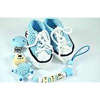 huge sale ce1f9 9b0d9 Suchergebnis auf Amazon.de für: babyschuhe mit namen: Handmade