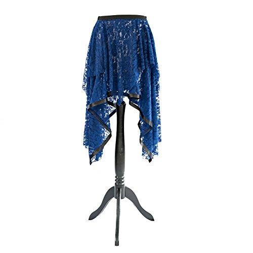 SiaLinda: Rock Laila, dunkel blau / schwarz, Spitze, asymetrisch, S/M