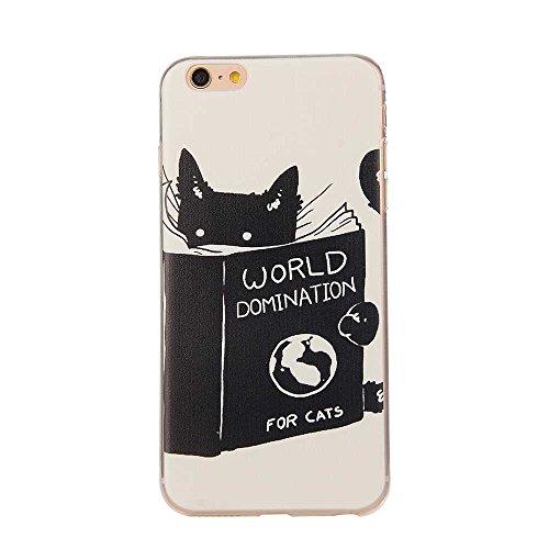 "Transparent iPhone 6S Hülle, Flexibel TPU Dünn Slim Licht Hübsch Malerei Bild - Tier Katze - Cover Case für Apple iPhone 6 6S 4.7"" Color-5"