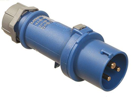 as - Schwabe CEE-Stecker mit Schraubanschlüssen, 230 V, 16 A, blau, 60470