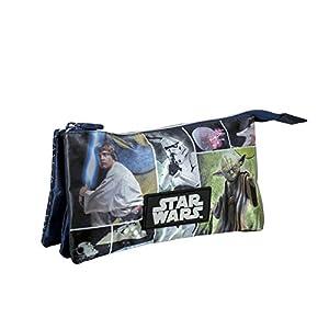 Star Wars – Portatodo con 3 Bolsillos, Color Azul (Cerdá 2100000531)