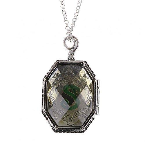 Halskette Medaillon Potter Harry (Harry Potter - Horkrux Slytherins Medaillon - Halskette | Silber)
