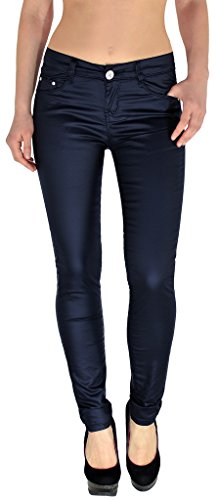 by-tex Damen Lederhose Kunstlederhose Damen Hose in Leder Optik bis Übergröße 54 in aktuellen Farben J295 (Leder 5 Pocket Hose)