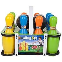 Mountain Warehouse Skittles fijado - lleve la Caja, Juego plástico Durable de Skittle, Acuerdo, fácil embalar el Juguete de los niños - para el Bowling, al Aire Libre Various Talla única
