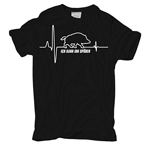 Männer und Herren T-Shirt Keiler Herzschlag
