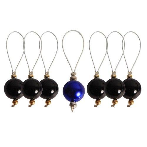 KnitPro Zooni Maschenmarkierer mit Perlen, Modell: Midnight Beauty -