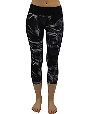Nike Damen Tights Power Crop Racer Pr Capri 3/4 Hose