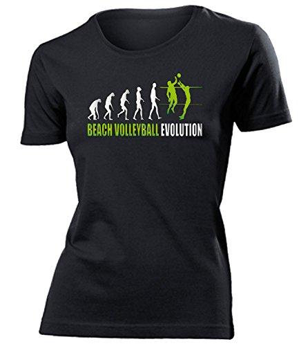 BEACH VOLLEYBALL EVOLUTION Donna Maglietta Taglia S to XXL vari colori nero / verde