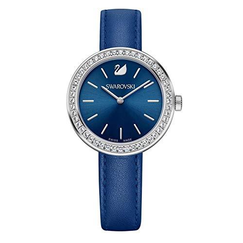 Swarovski Damen Analog Quarz Uhr mit Leder Armband 5213977