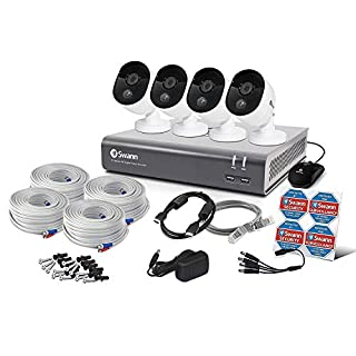Swann 8 Channel Security System: DVR-4575 with 1TB HDD + 4 x 1080p Thermal Sensing Camera