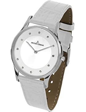 Jacques Lemans Damen-Armbanduhr XS london classic Analog Quarz Leder 1-1778G