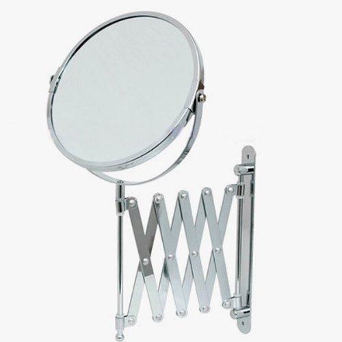 Succsale-wunderschöner Kosmetikspiegel-Badspiegel- Scherenspiegel- Normalansicht und +3 Fach...