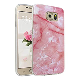 Asnlove Galaxy S6 Case Lightweight Soft Flexible TPU Rubber Anti-Scratch Protective Case for Samsung Galaxy S6(Pink)
