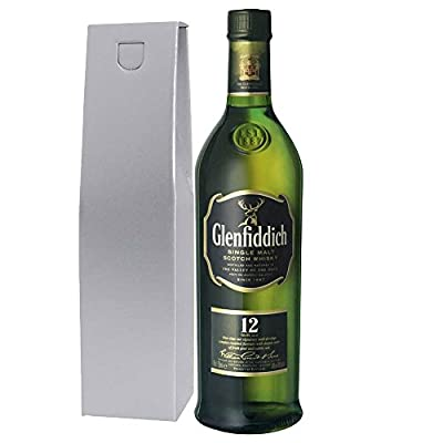 Glenfiddich Special Reserve 12 Year Old Malt Whisky 70cl Bottle in Silver Gift Box with Happy Mothers Day Gifts2Drink Tag
