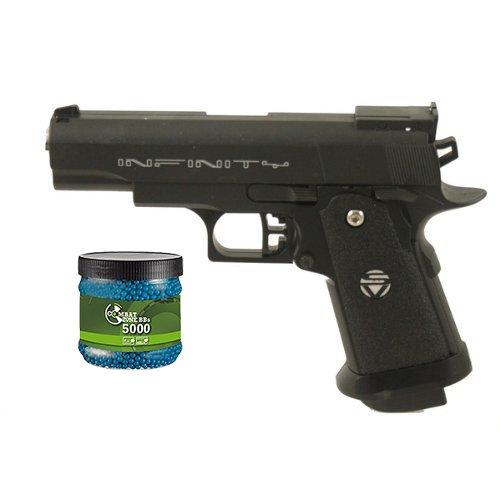 SET-G8DS-Sport-Softair-Pistole-VOLLMETALL-G10-05-Joule-6mm-Waffe-ab-14-Jahren-freigegeben-Umarex-Combat-Zone-Softairkugeln-blau-6mm-012g-5000-BBs