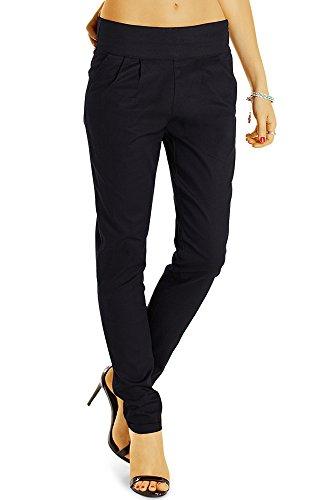Bestyledberlin Elegante Damen Hose, Schicke Regular Fit Stoffhose, Feine Bundfalten Business Hosen j34k 38/M