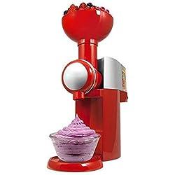 Machine de fabrication de crème glacée de conception pratique de bricolage Portable Taille ménage utiliser automatique congelé Fruit Dessert Machine (Red)