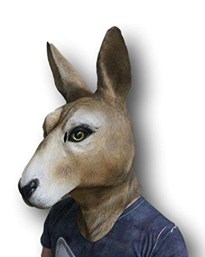 Kostüm Känguru Adult - Rubber Johnnies Känguru Maske Voller Kopf Filmqualität