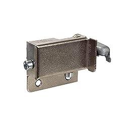 Gedotec Schrankaufhänger verstellbar 200 kg Schrankaufhängung Küche sichtbar für Wandschiene Oberschrank | Anschlag: Rechts | Metall vernickelt | 1 Stück - Aufhänger für Hänge-Schiene zum Schrauben