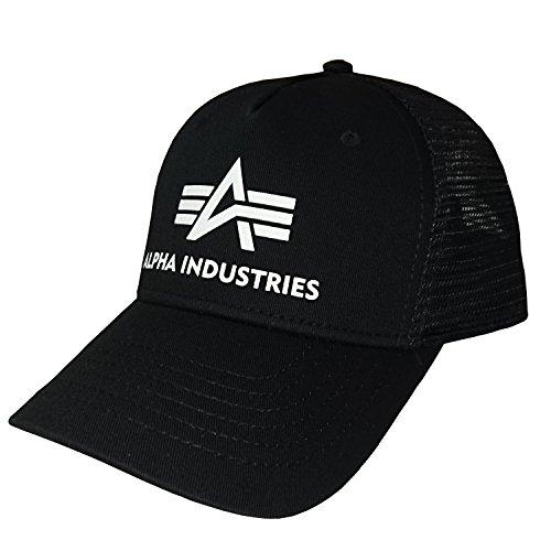 Alpha Industries Basecap Basic Trucker Cap schwarz olive navy (Schwarz)