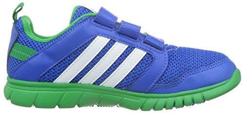 adidas , Mädchen Sneaker BLUE/FTWWHT/SIGGRN