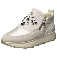 Geox Women's D GENDRY A Trainers, Off-White (Off White C1002), 7 UK
