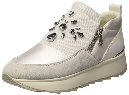 Geox Damen D Gendry A Sneaker, Elfenbein (Off White), 39 EU
