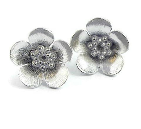 Sophia Roses-en argent Sterling 925 Bouton d'or-Boucles d'oreille clous