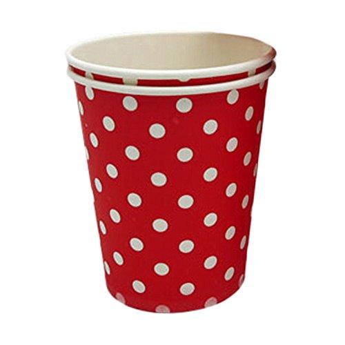 Alien Storehouse 8.25 Unzen weiße Punkte Kaffee Pappbecher Pappbecher Einweg 50 Count, Rot -