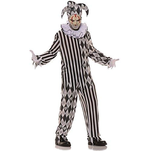 oween-Kostüm Psycho-Clown schwarz-weiss M / L (Genial Adult Halloween-kostüme)