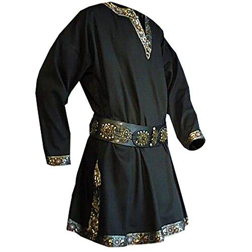 Tunika mit langem Arm, schwarz, Größe XXL (Kostüme Männer Armee)