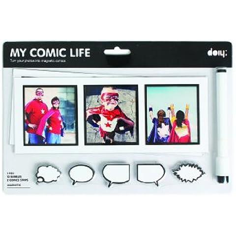 Doiy My Comic Life - Pack 13 burbujas de mensaje de imán + 1 bolígrafo + 2 tiras