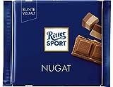RITTER SPORT Nugat (13 x 100 g), Tafelschokolade mit cremig-feinem Nugat, Edelnugat umhüllt von feiner Vollmilchschokolade, intensiver Nussgeschmack