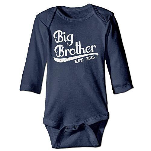 VTXWL Unisex Infant Bodysuits Gift for Big Brother 2018 Boys Babysuit Long Sleeve Jumpsuit Sunsuit Outfit Navy