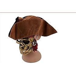 Sombrero de capitán Jack Sparrow, color marrón.